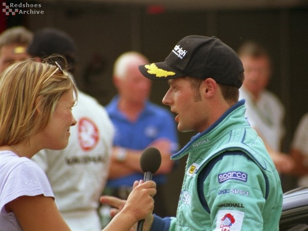 Andy Priaulx gets interviewed